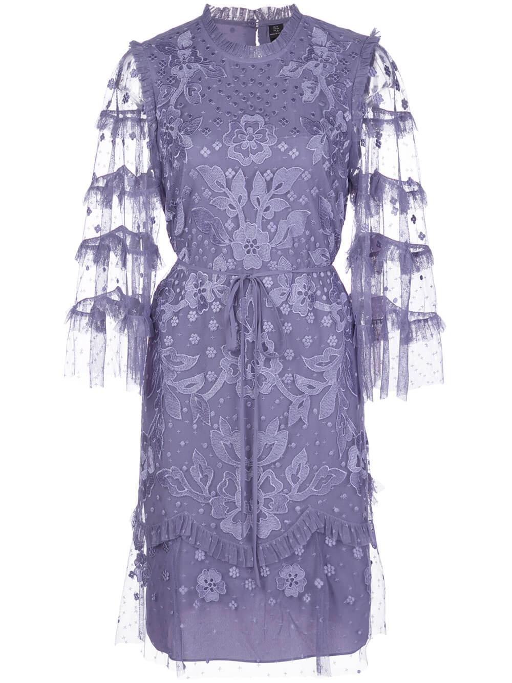 Patchwork Lace Mini Dress Item # DR0002PS20-BLL