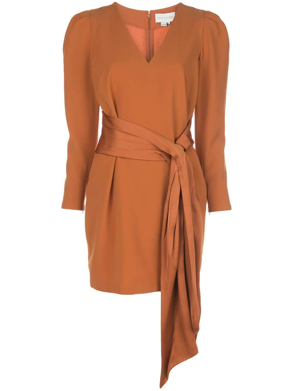 Amina Sash Belted Dress Item # R01D06