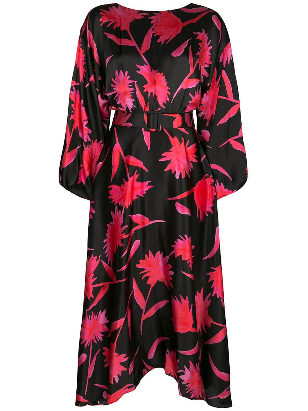 Kim Midi Floral Print Dress