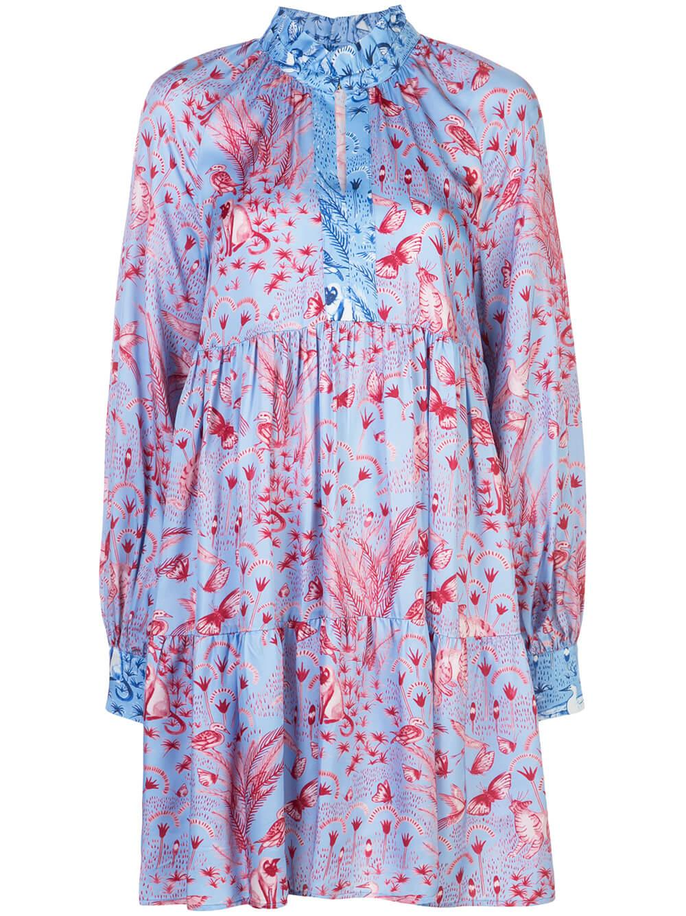 Jasmine Printed Silk Dress