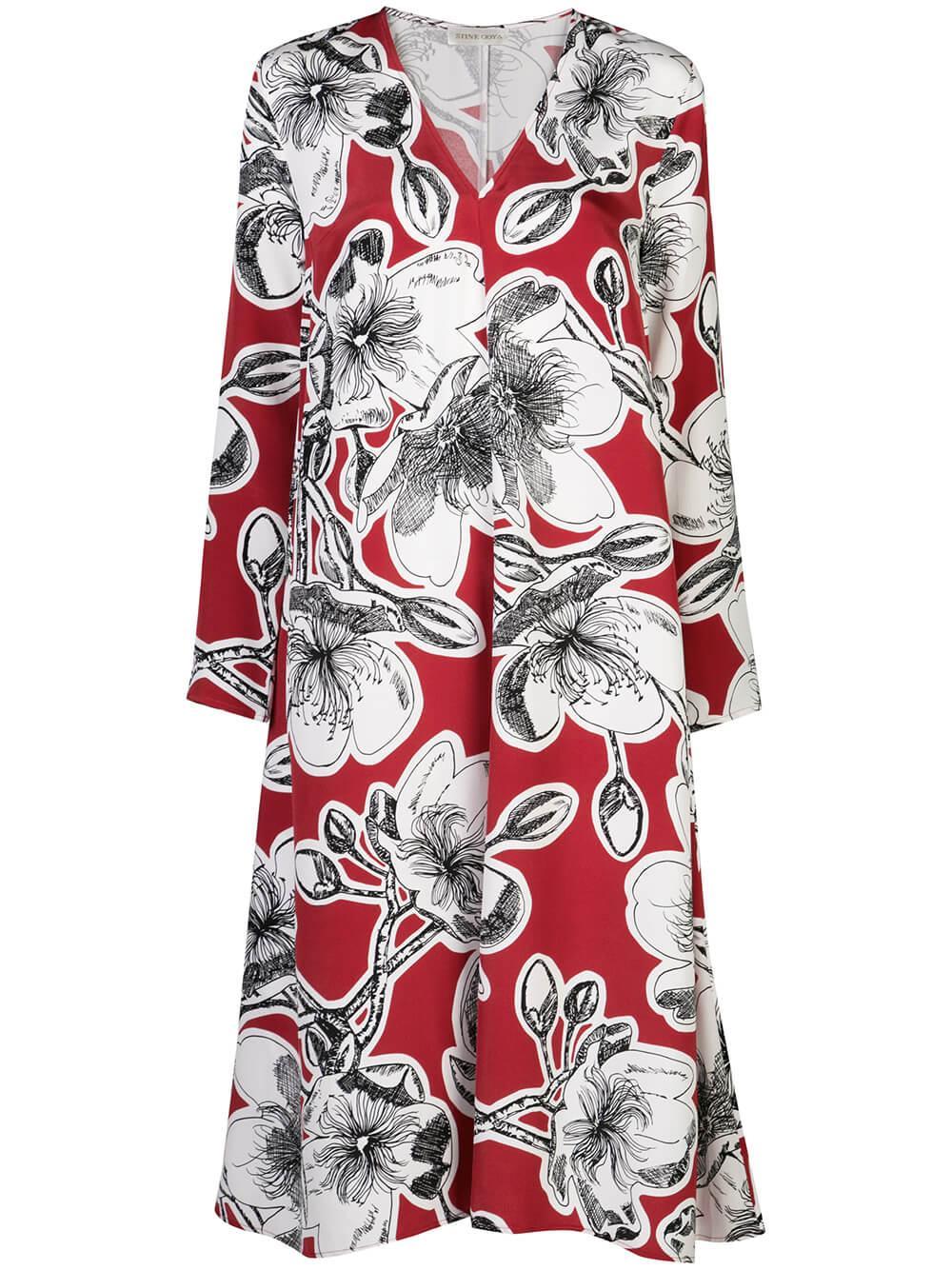 Miri Dahlia Print Midi Dress Item # SG2817