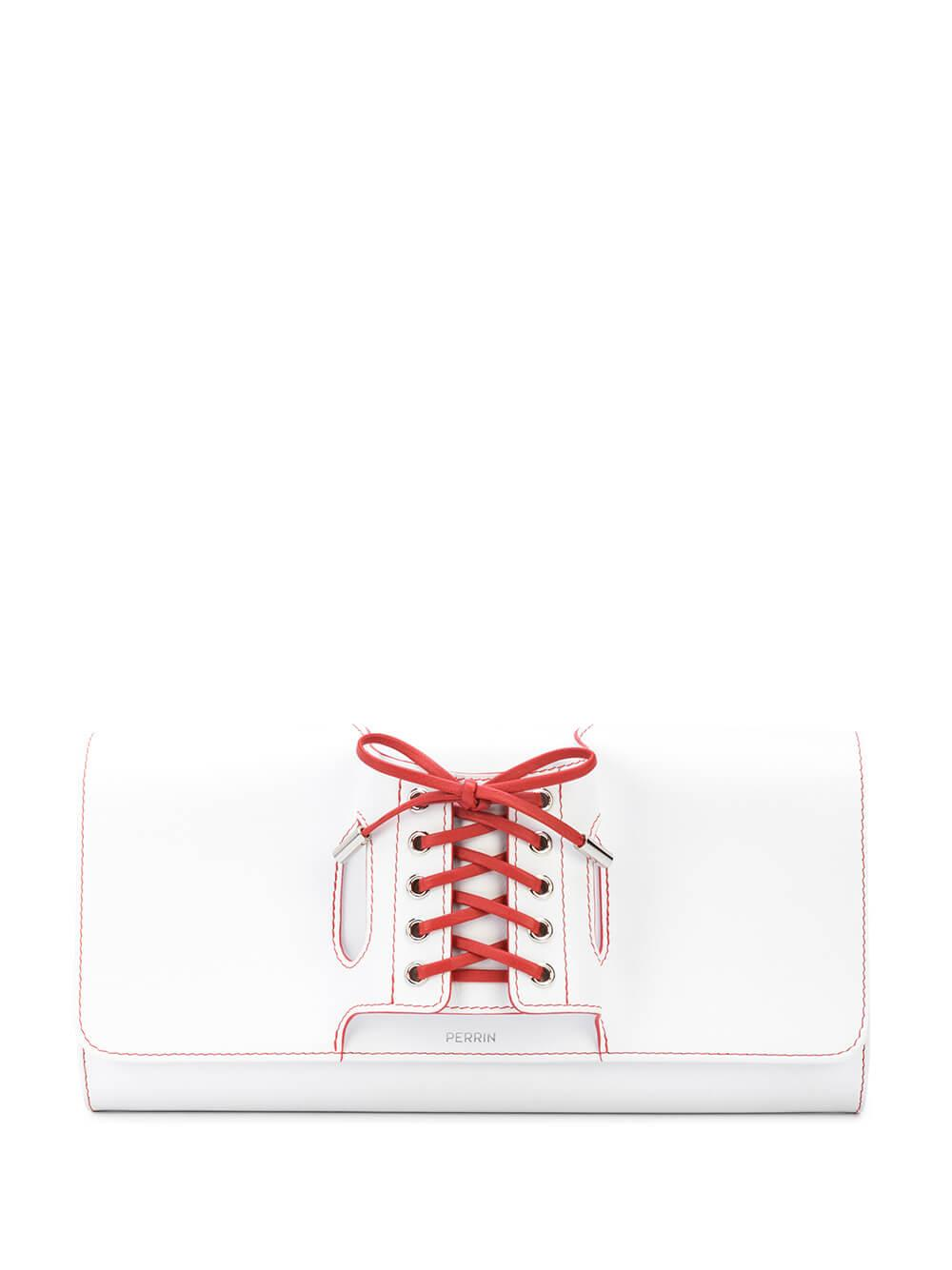 Le Corset Clutch With Silver Detail Item # COR5BOXS