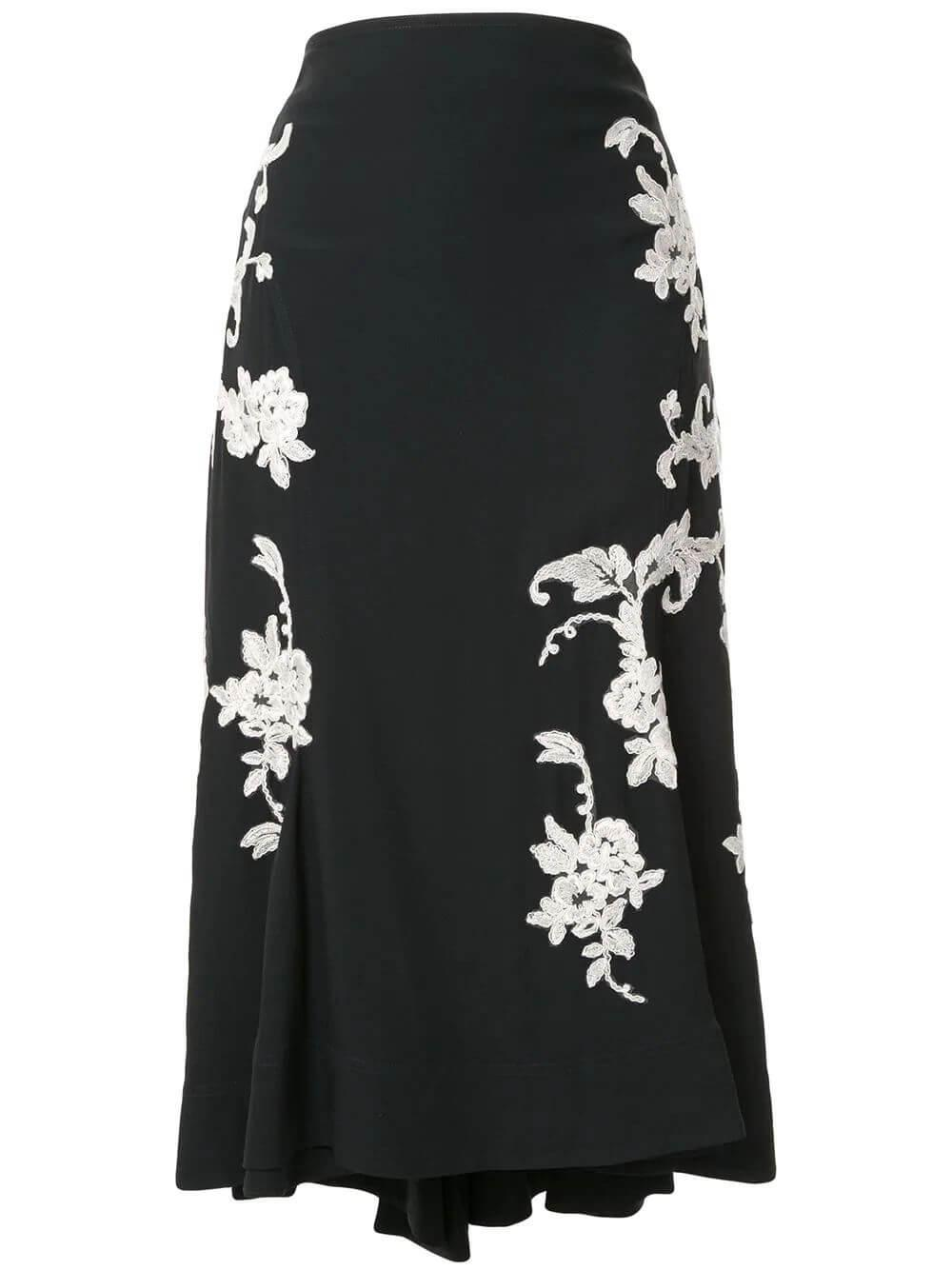 Enita Floral Jacquard Midi Skirt