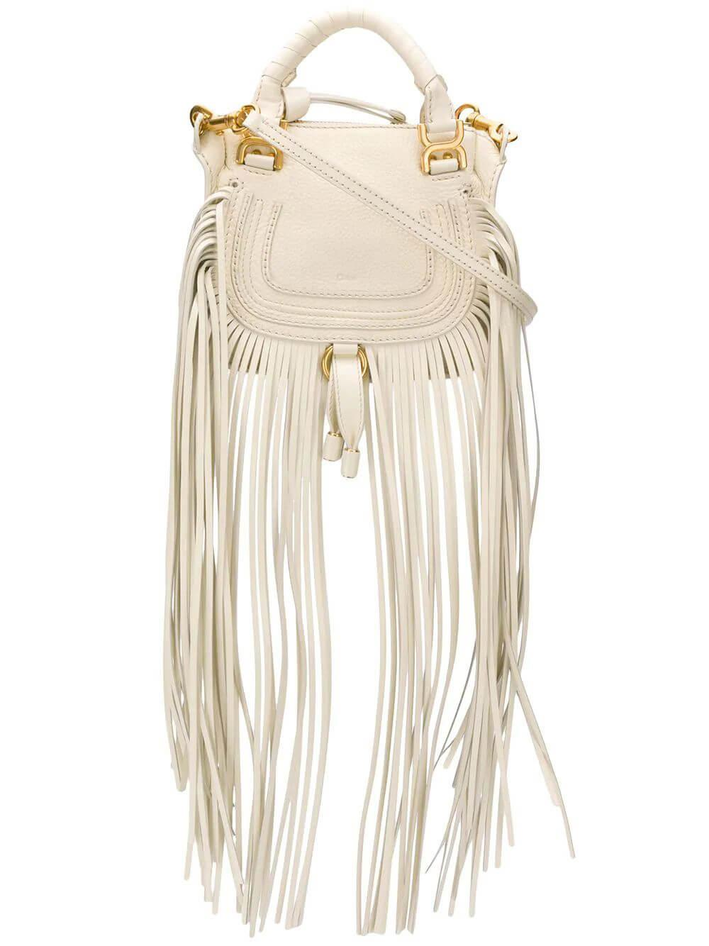 Marcie Mini Double Carry Bag With Fringe