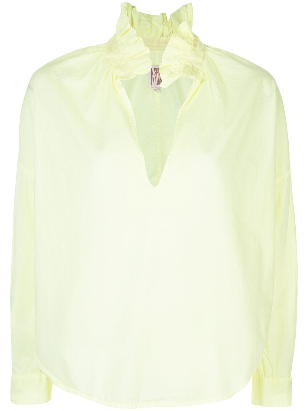 Penelope Cabo Ruffle Collar Long Sleeve Top