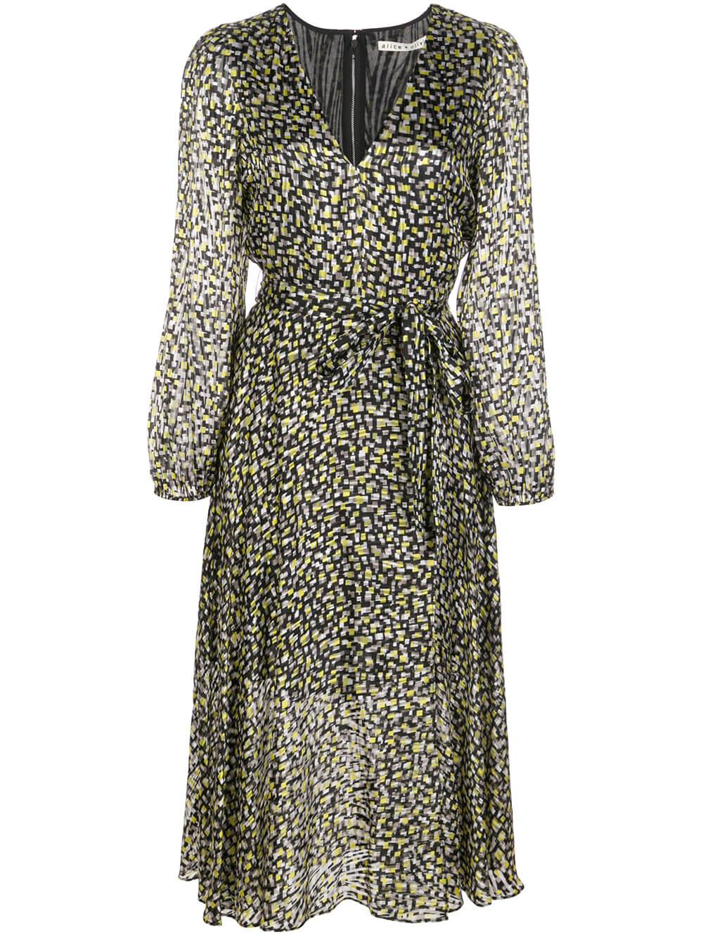 Coco V Neck Velvet Burnout Dress Item # CC911B72507