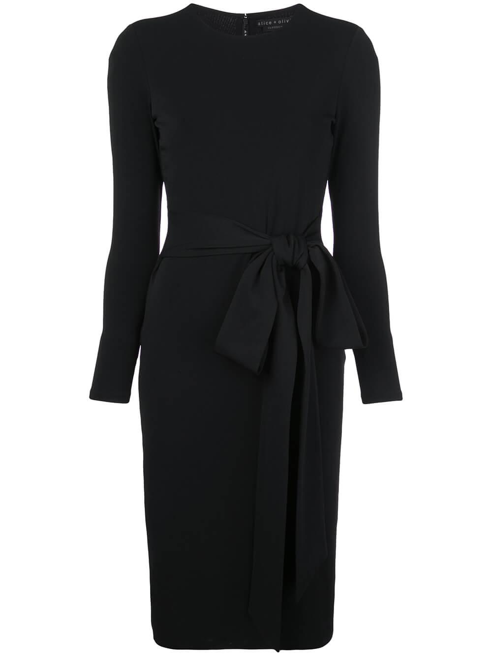 Delora Long Sleeve Tie Waist Dress