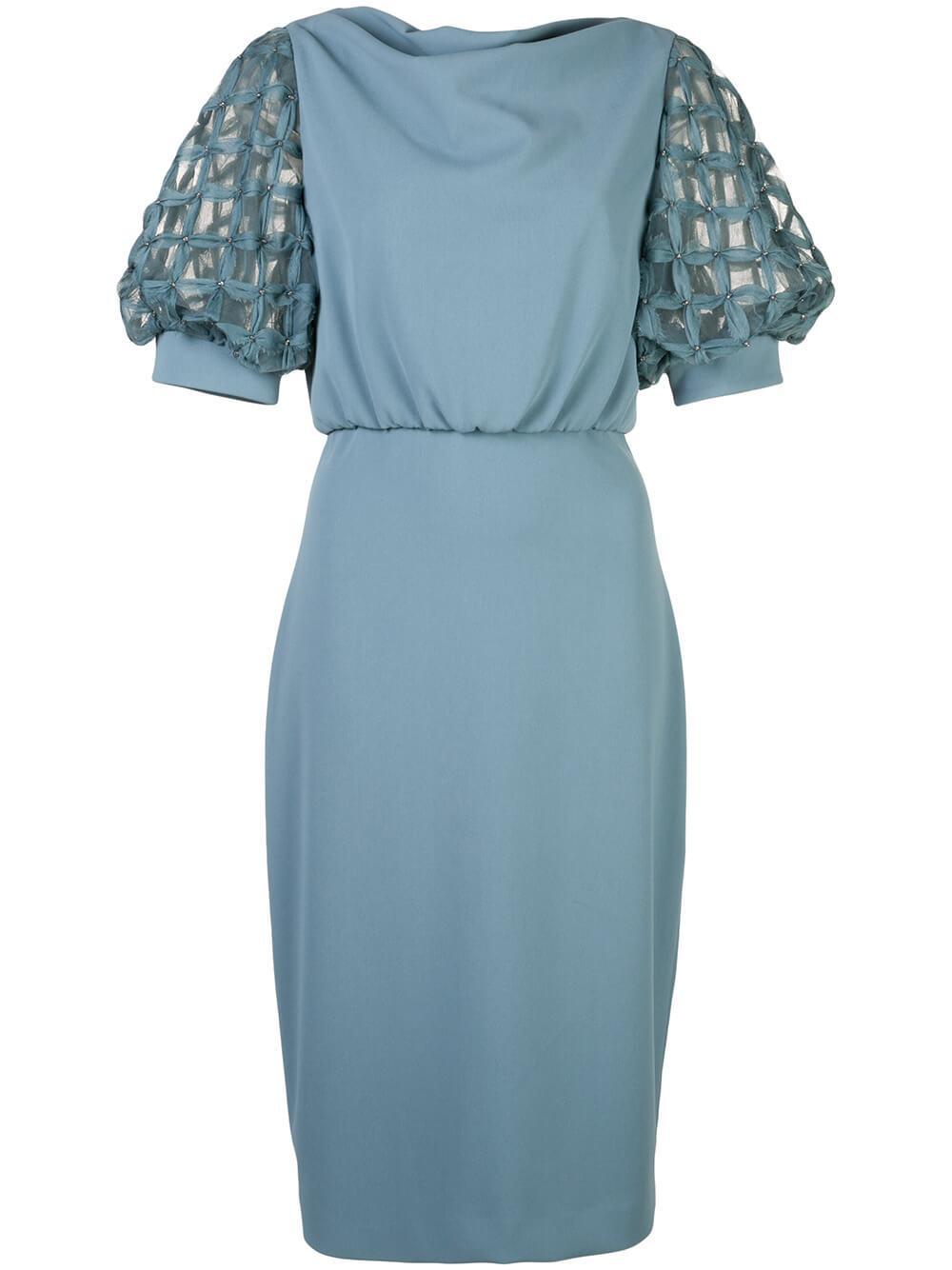 Embellished Puff Sleeve Cocktail Dress Item # SC2481