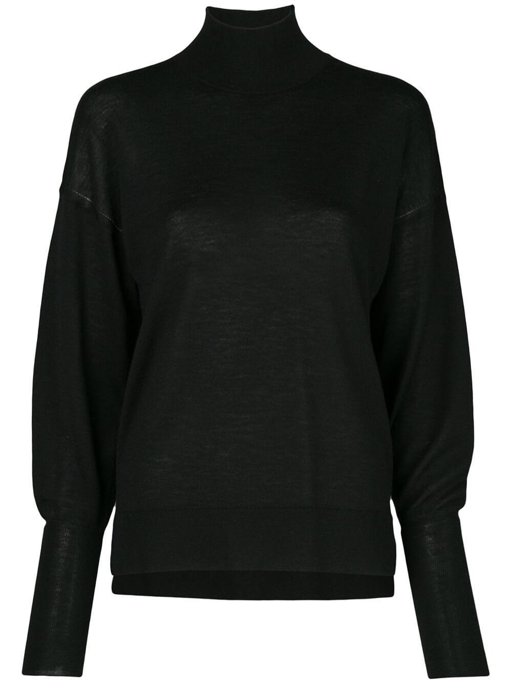 Long Sleeve Cashmere Cowl Back Sweater Item # 120-2030-K
