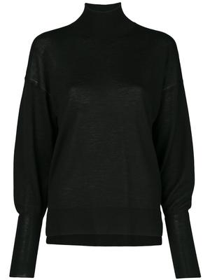 Long Sleeve Cashmere Cowl Back Sweater