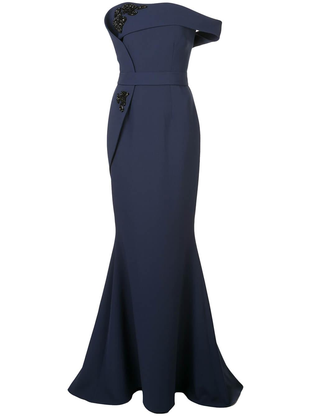 Reverie Sleeveless Crepe Gown