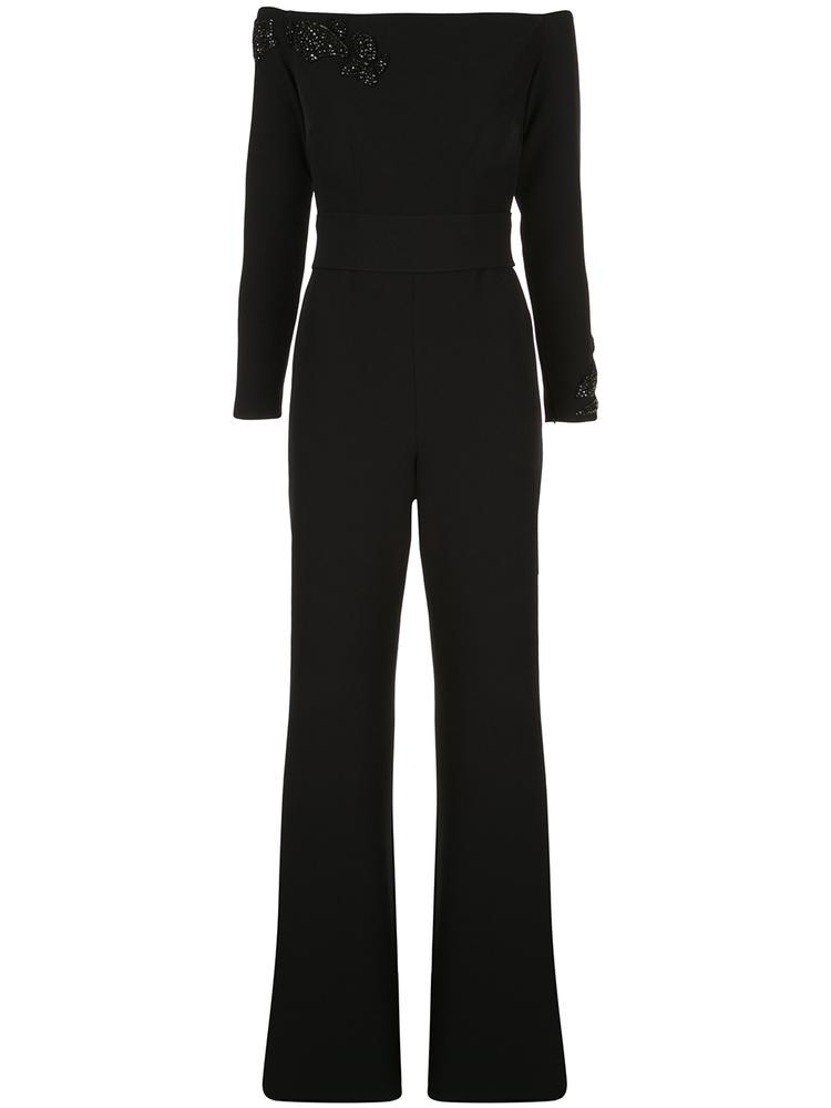 Universe Long Sleeve Off The Shoulder Crepe Jumpsuit
