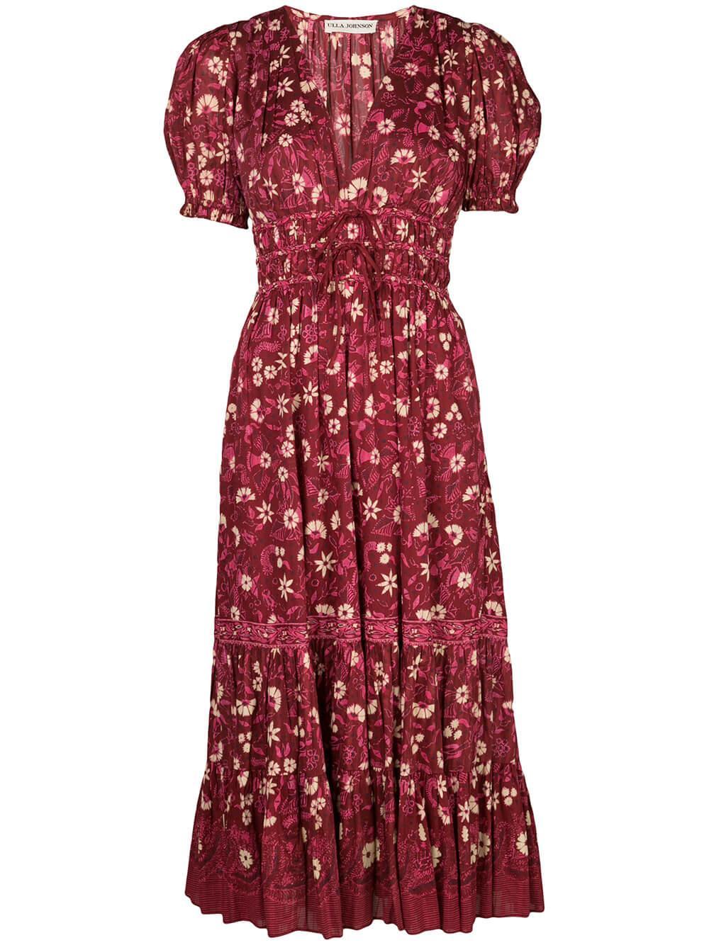 Zaria Midi Short Sleeve Dress