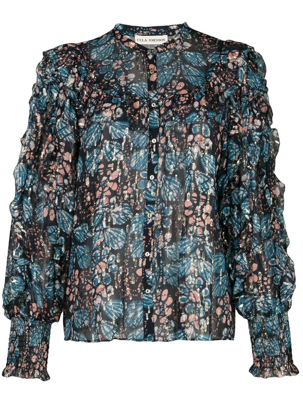 Isadora Full Sleeve Metallic Blouse Item # PS200222