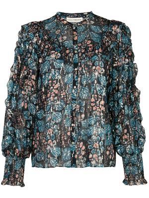 Isadora Full Sleeve Metallic Blouse