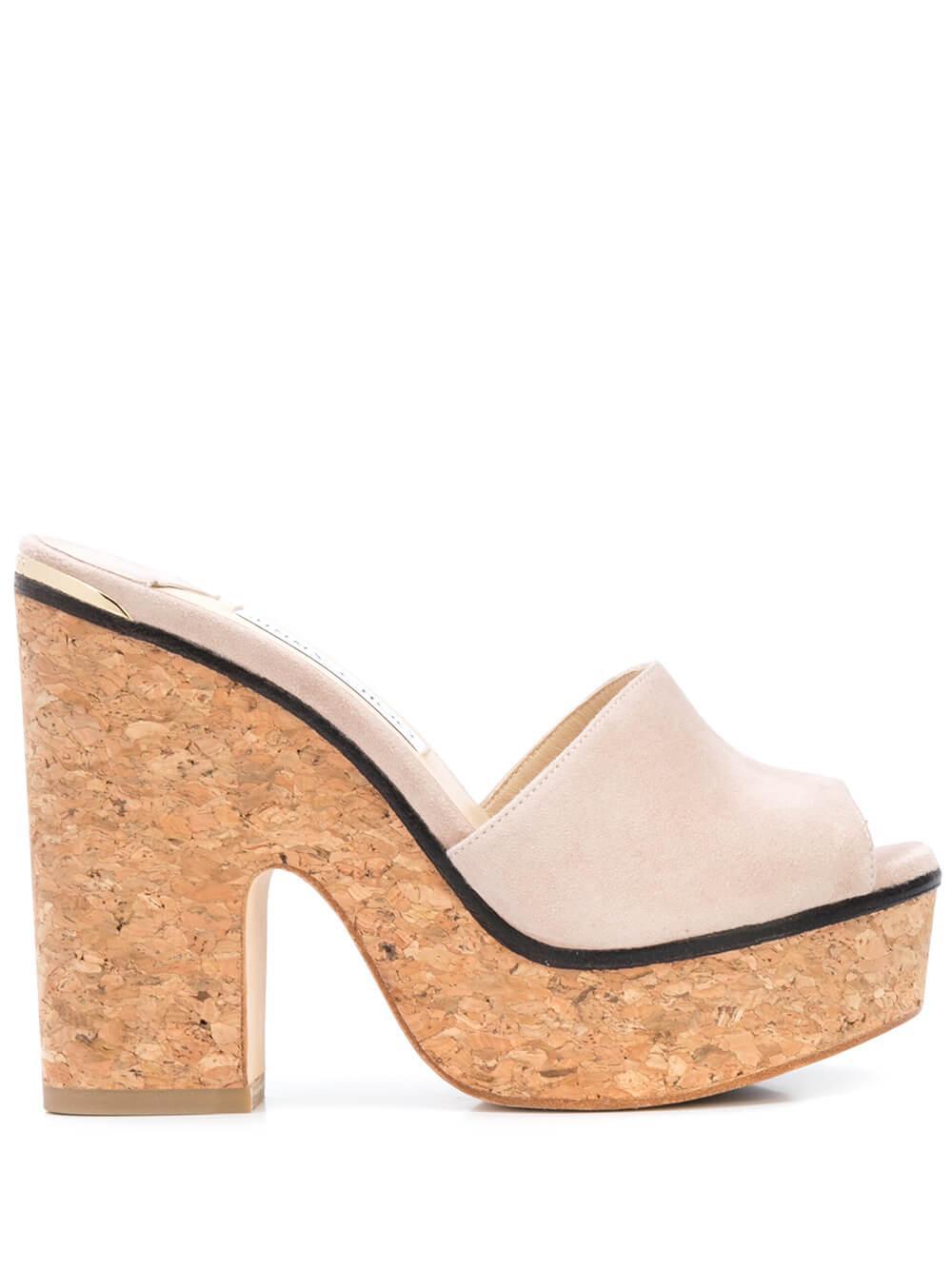 Suede 125mm Platform Sandal Item # DEEDEE125-SUE