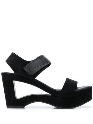 Platform Sandal With Cutout Wedge