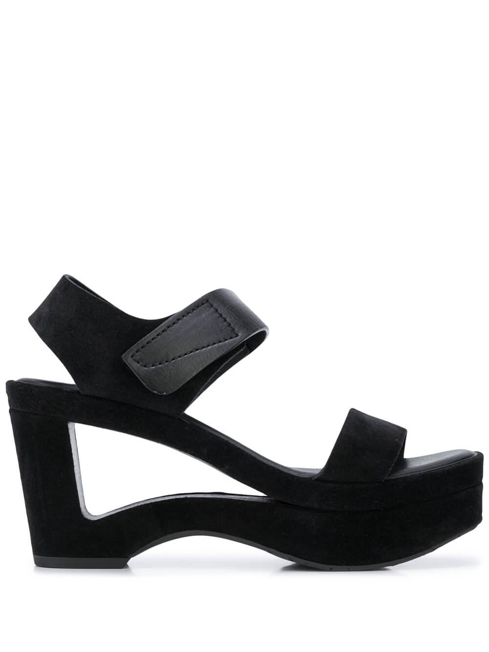 Platform Sandal With Cutout Wedge