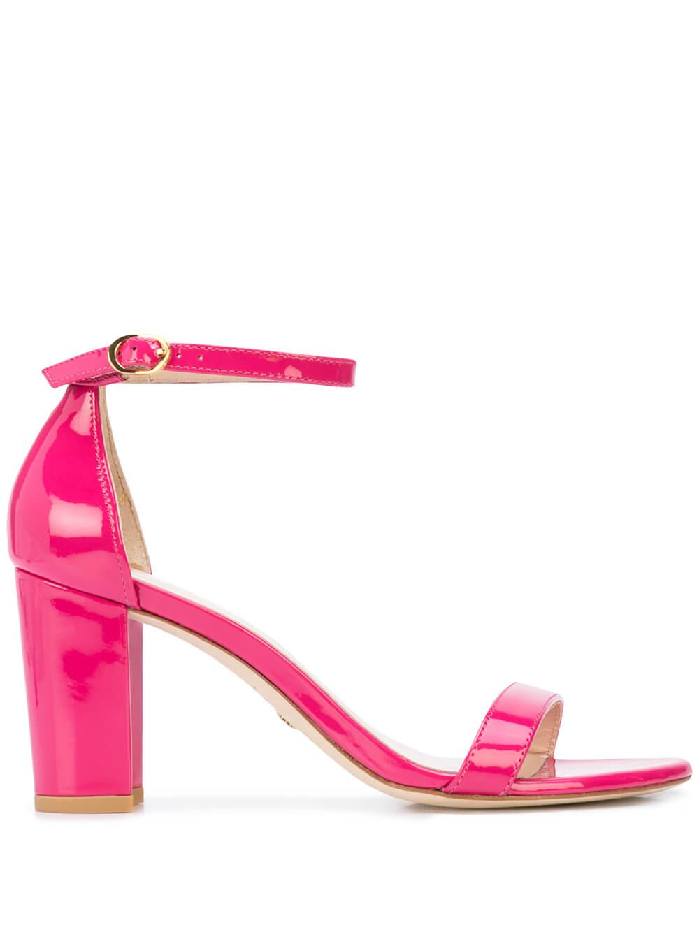 80mm Block Heel Sandal With Ankle Strap Item # NEARLYNUDE-R20