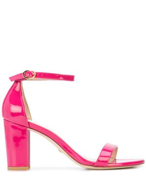 80MM Block Heel Sandal With Ankle Strap