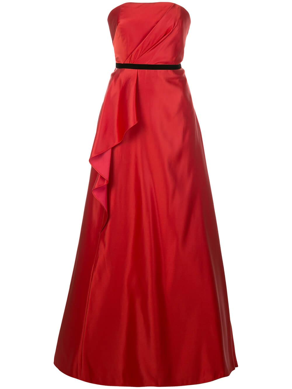 Strapless Satin Ball Gown Item # N36G1139