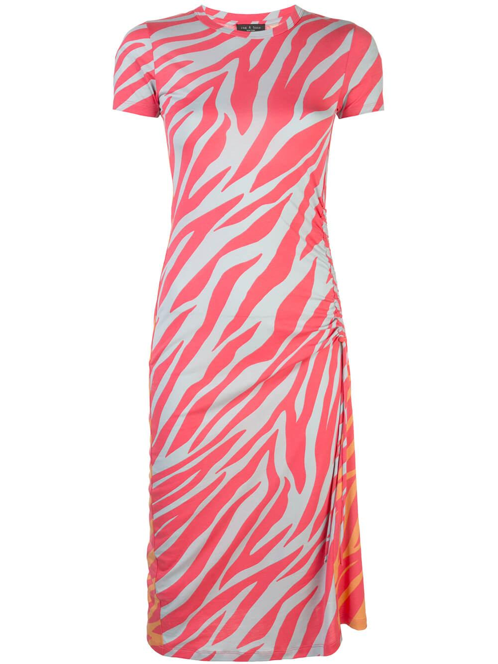 Ina Neon Zebra Stripe Dress