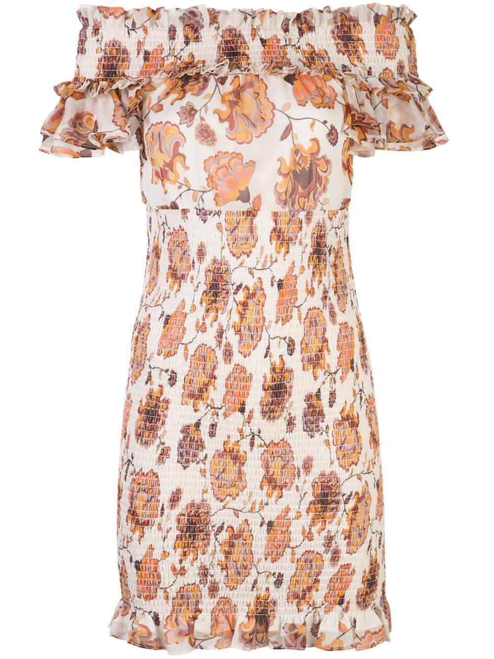 Baez Shirred Mini Dress Item # SJ4661
