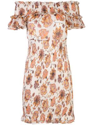 Baez Shirred Mini Dress