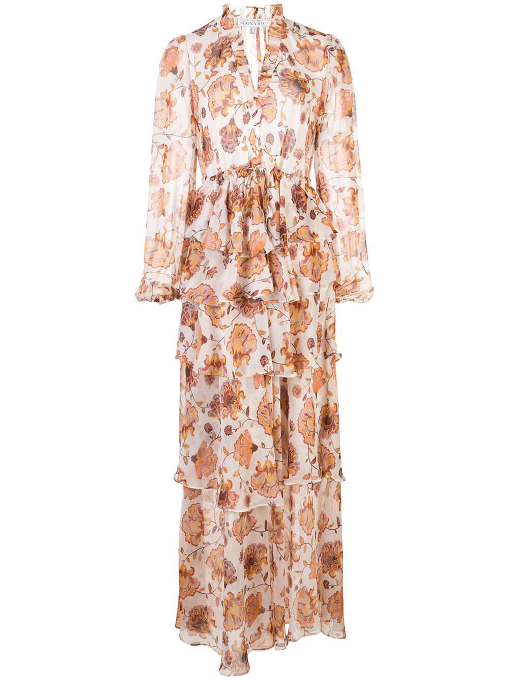 Baez Tiered Maxi Dress Item # SJ4733