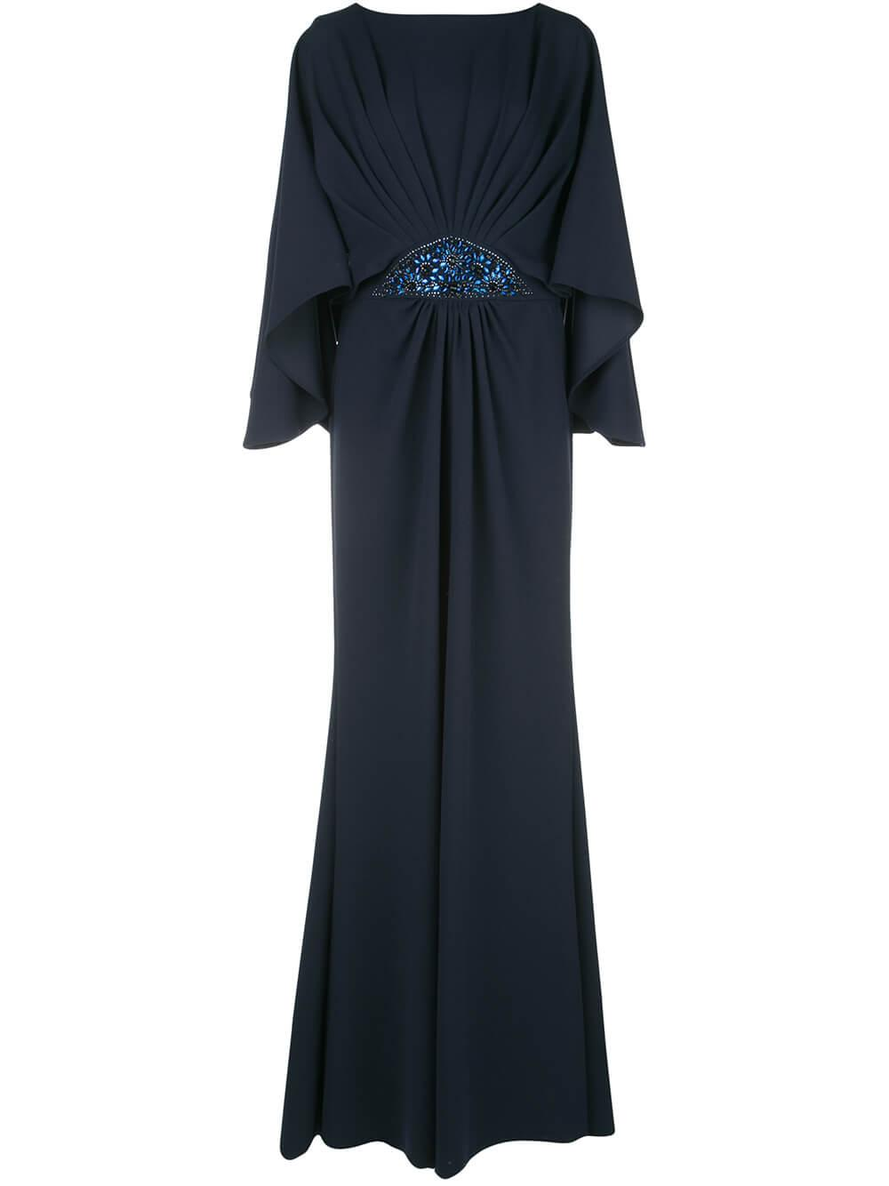 Blouson Top Embellished Waist Gown