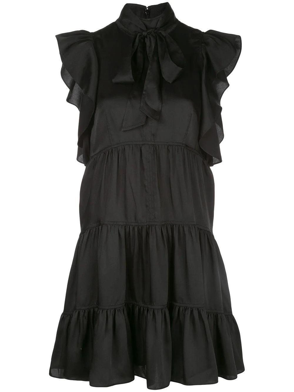 Rebecca Silk A-Line Tiered Dress