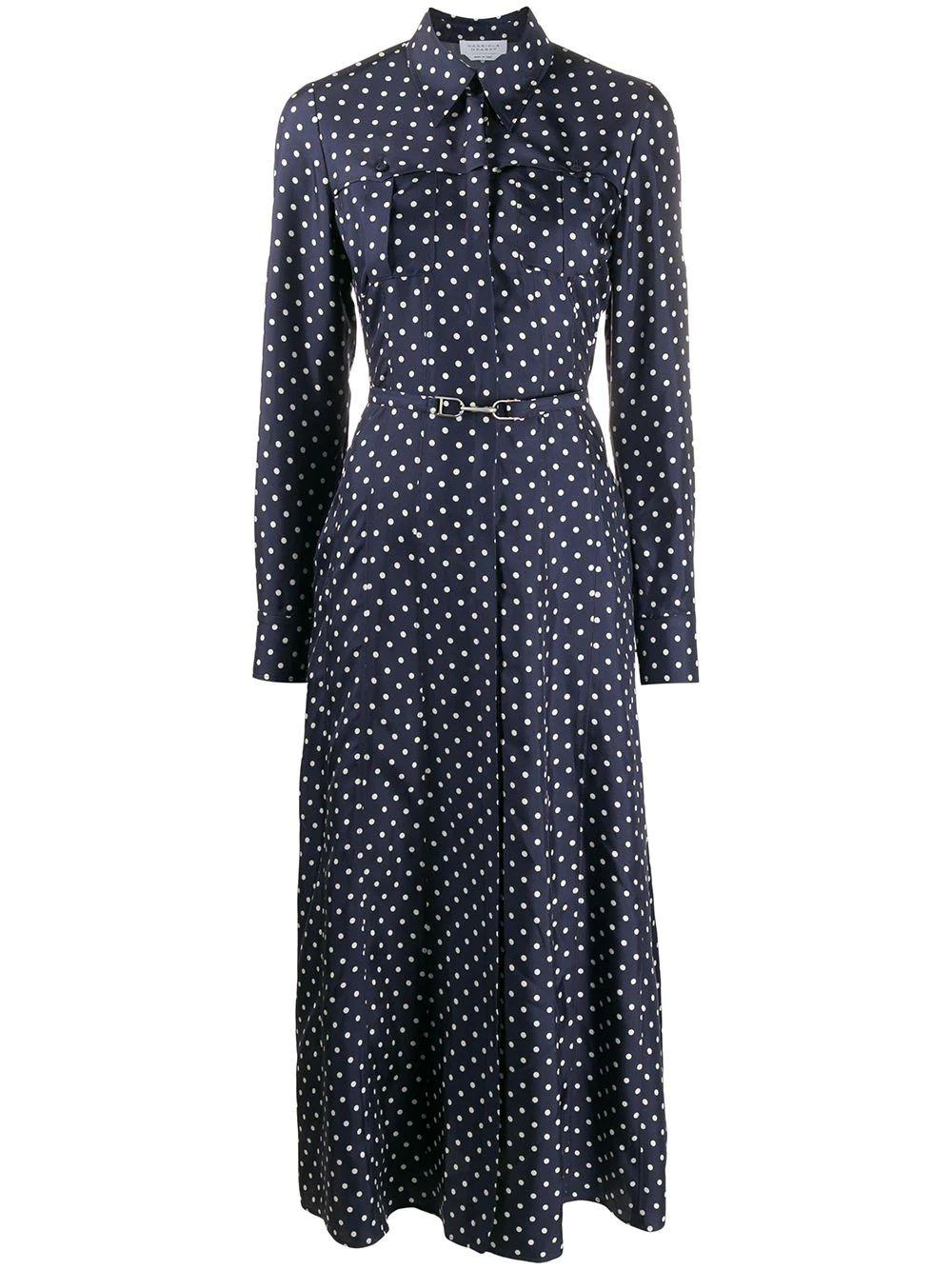 Descartes Patchpocket Polka Dot Dress