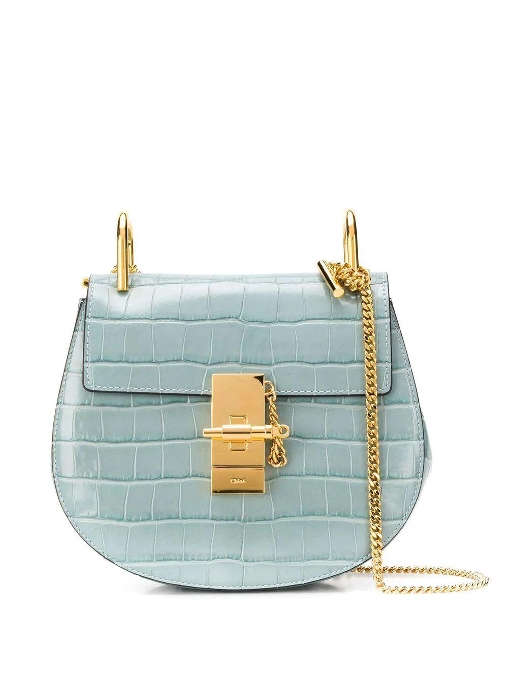 Drew Mini Embossed Croc Shoulder Bag Item # CHC19US032A8744L