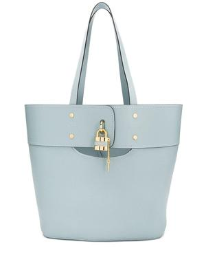 Aby Medium Leather Tote With Lock