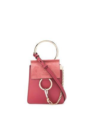 Faye Smooth and Suede Calfskin Bracelet Bag