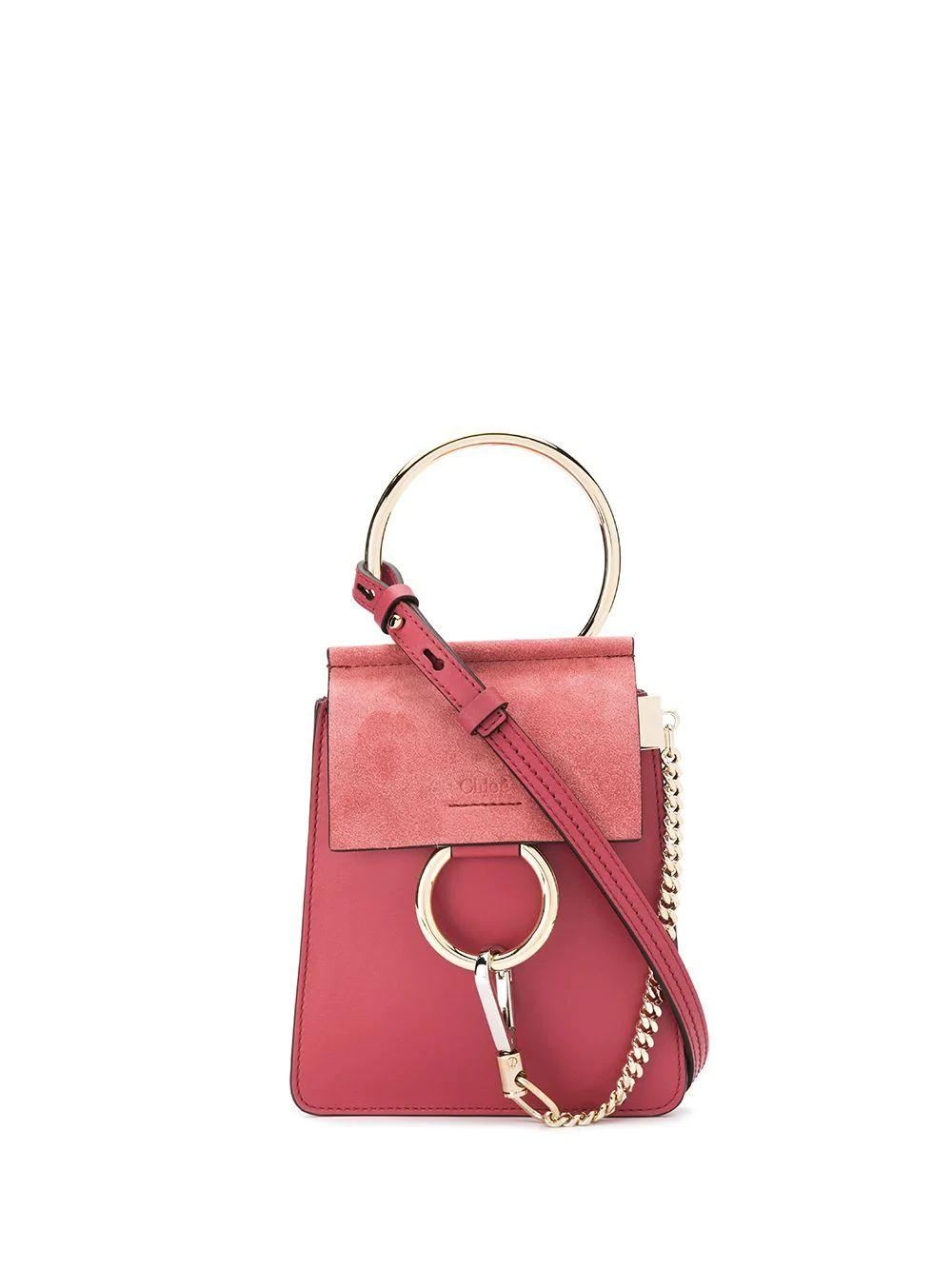 Faye Smooth and Suede Calfskin Bracelet Bag