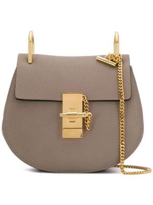Drew Mini Grained Leather Shoulder Bag