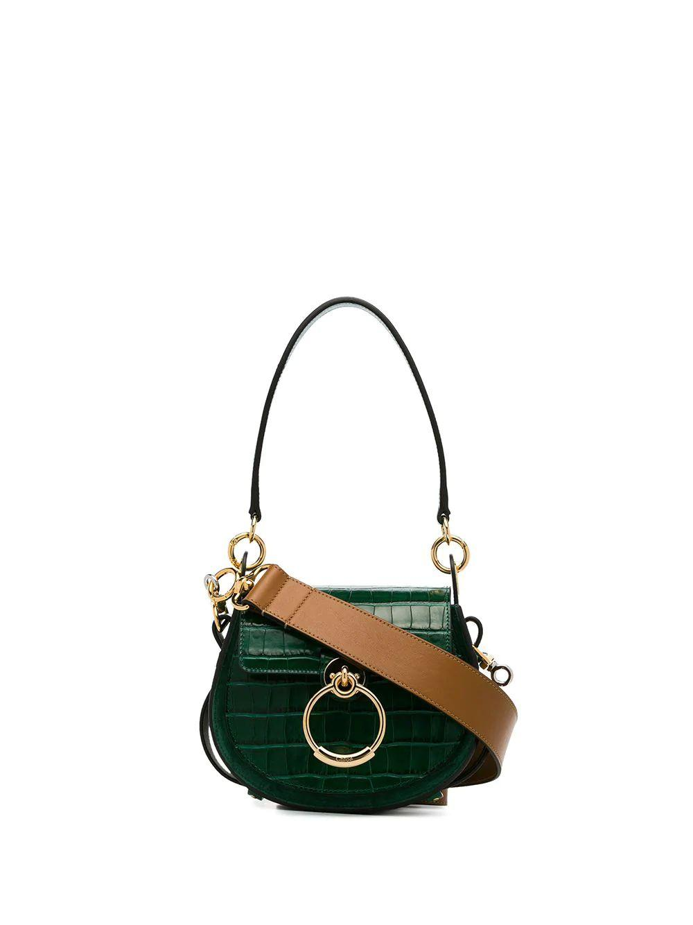 Tess Small Embossed Croc Shoulder Bag