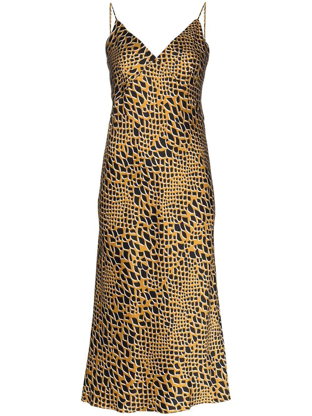 Issa Print Silk Bias Cut Slip Dress