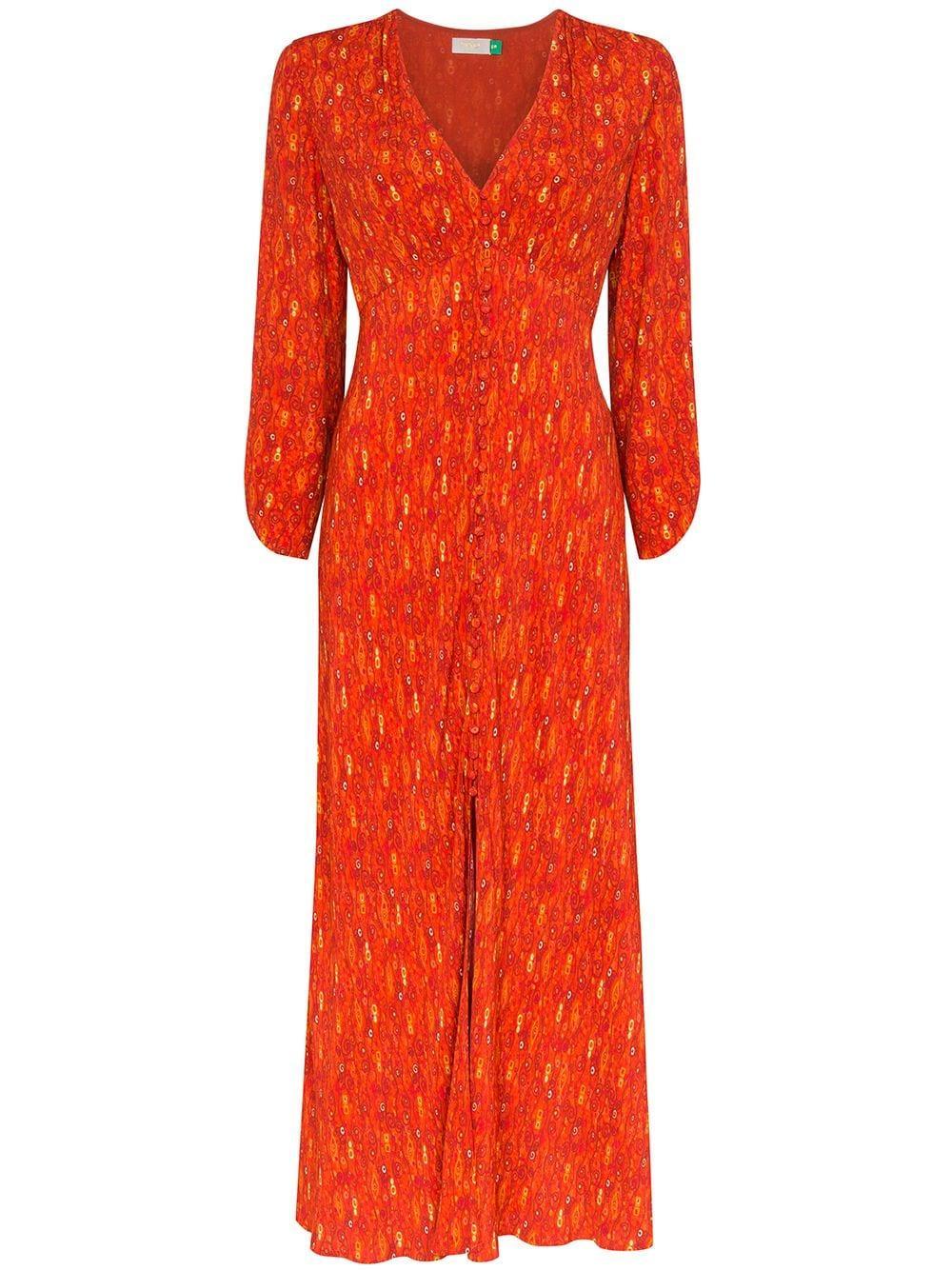 Katie Long Sleeve Midi Dress Item # RIX10-021-120-671