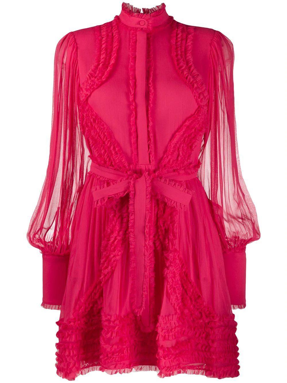 Olinka Long Sleeve Ruffle Dress Item # A4190310-5760