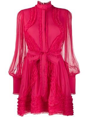 Olinka Long Sleeve Ruffle Dress