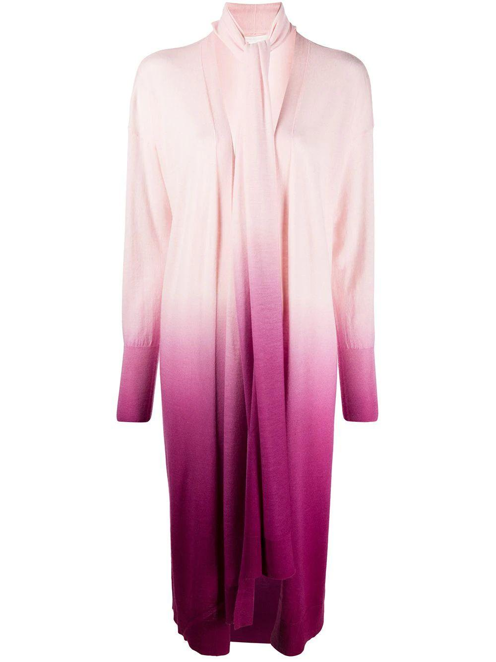 Long Sleeve Ombre Cashmere Scarf Cardi Item # 120-6016-K-OMBRE