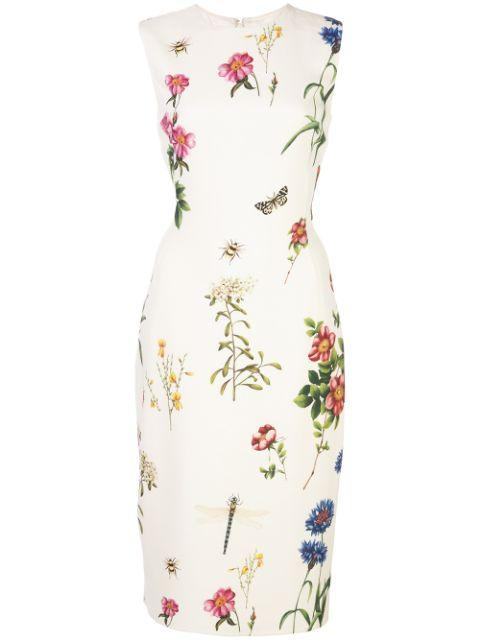 Sleeve Less Floral Sheath Dress