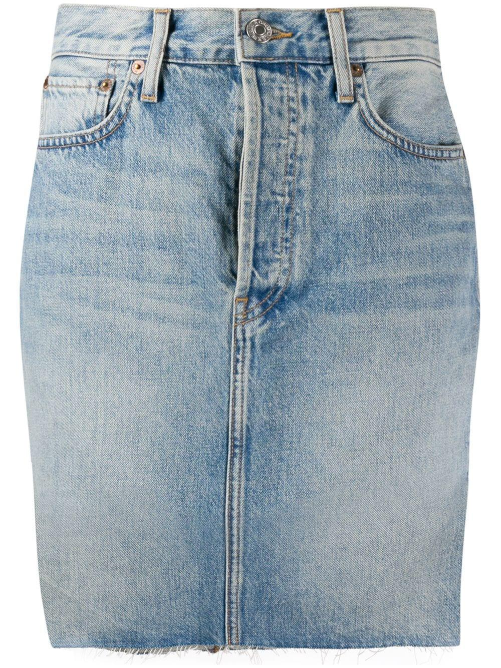 80`s Denim Pencil Skirt