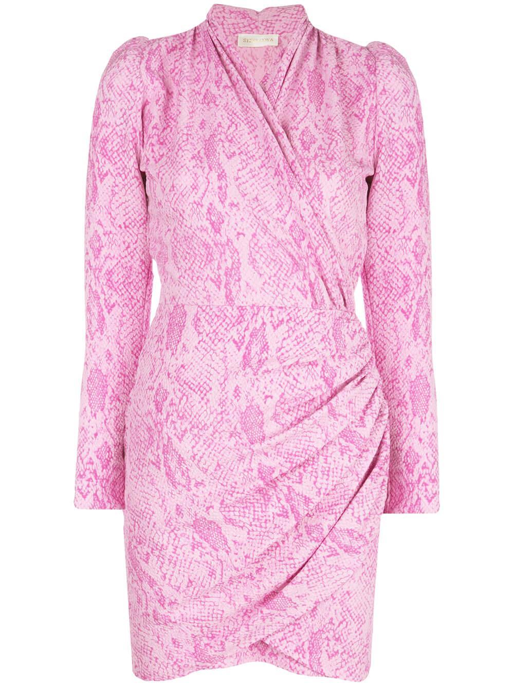 Clem Stretch Wrap Dress Item # SG2781