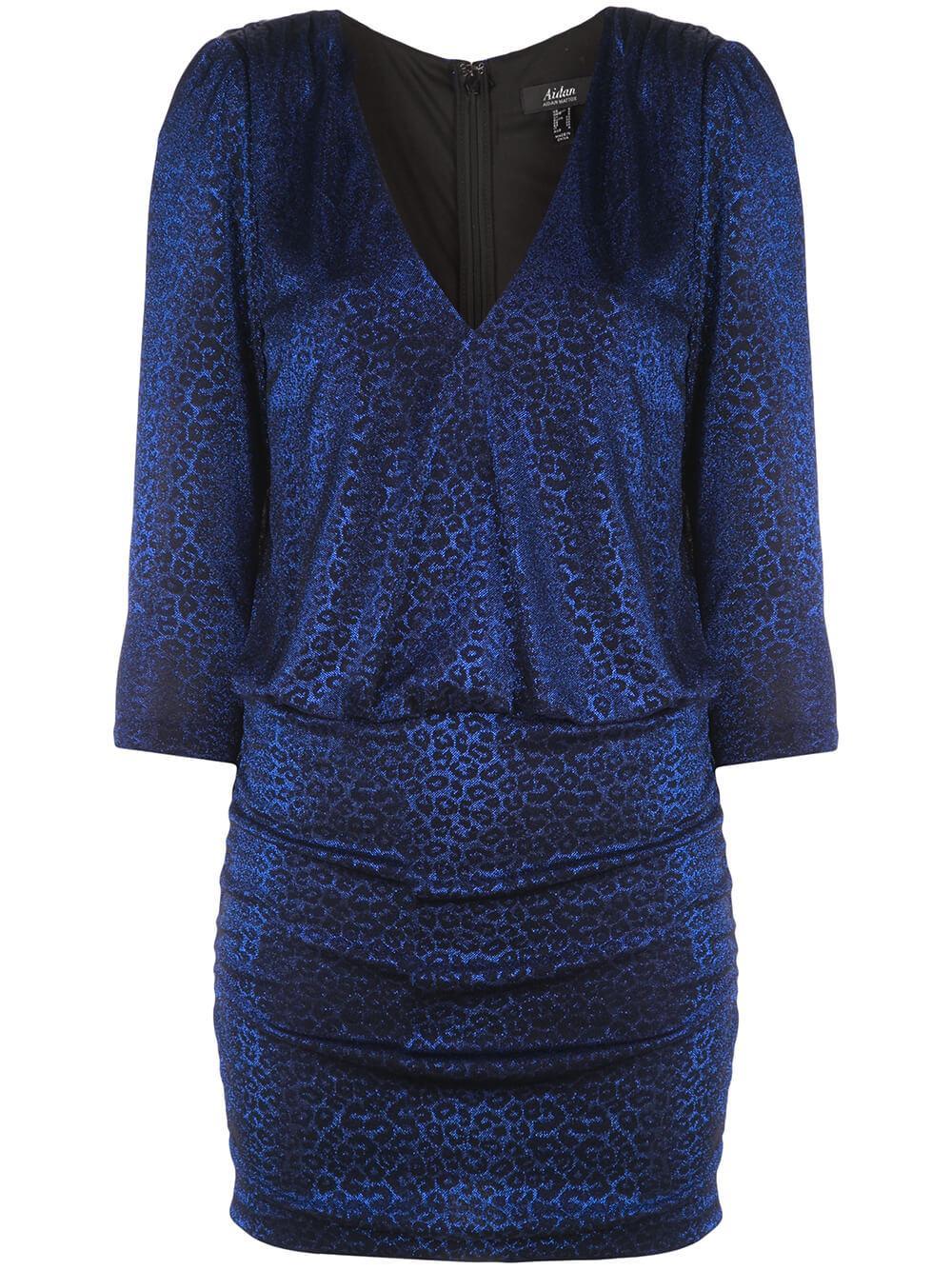Metallic Leopard Knit Dress Item # MN1E204962