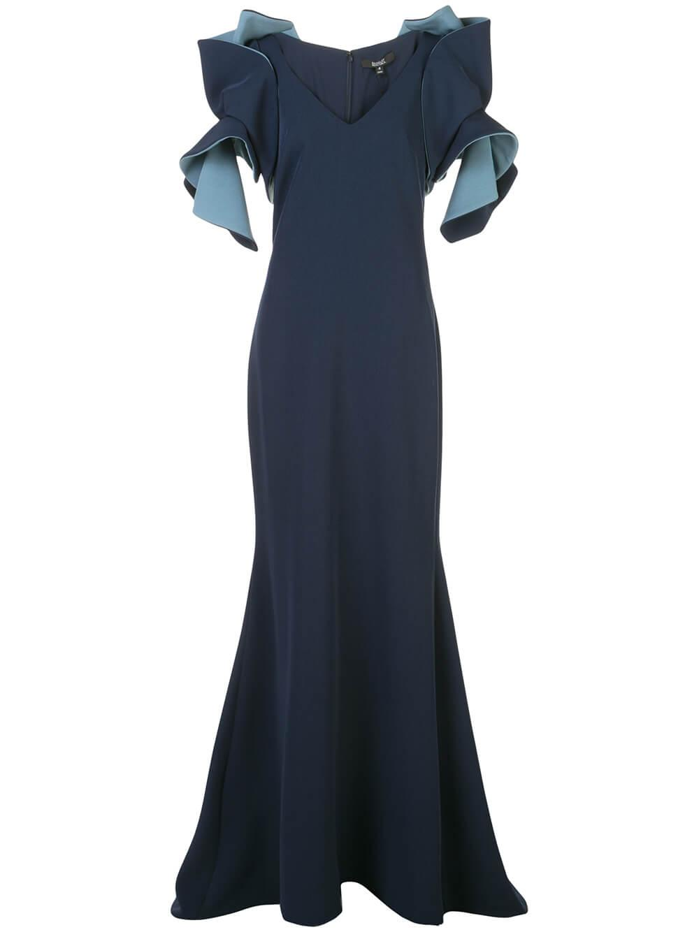 Origami Two Tone Gown Item # EG2759A