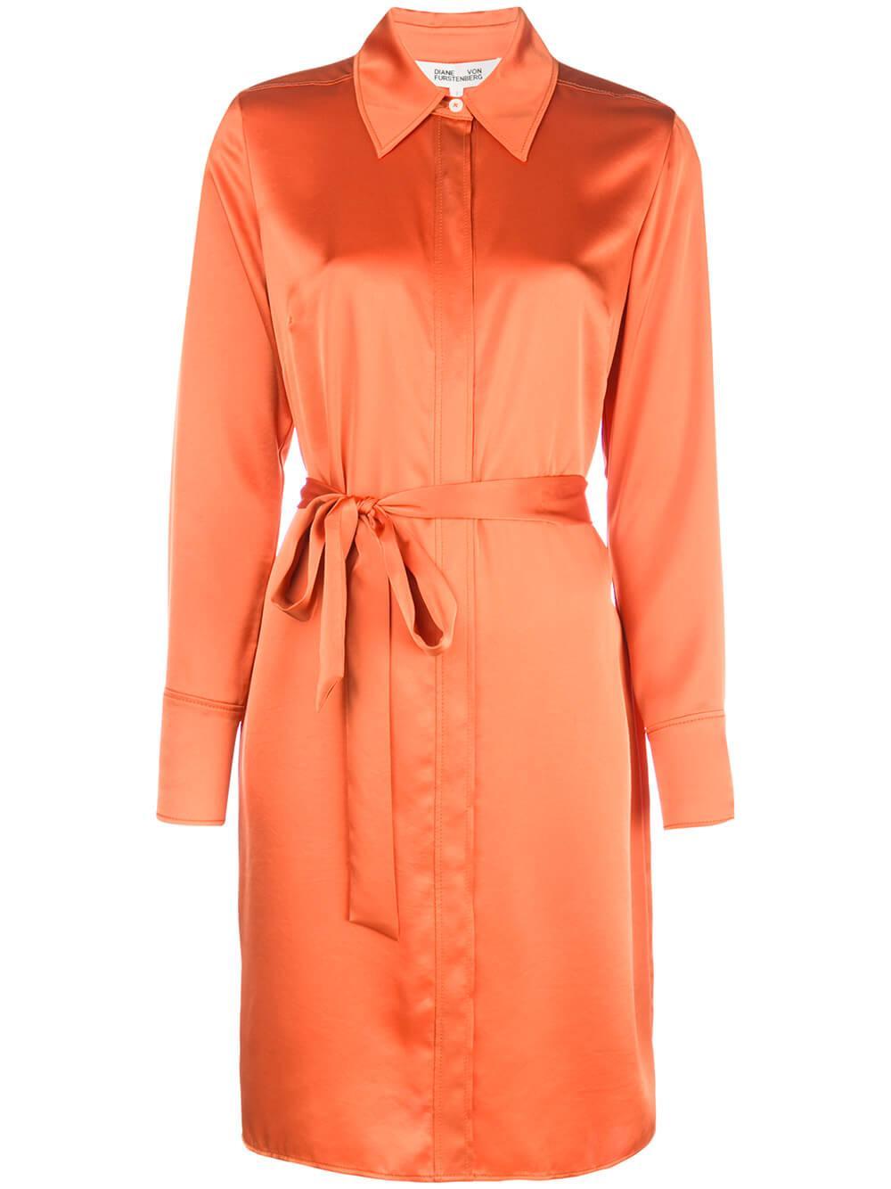 Zello Long Sleeve Belted Shift Dress Item # 13625DVF