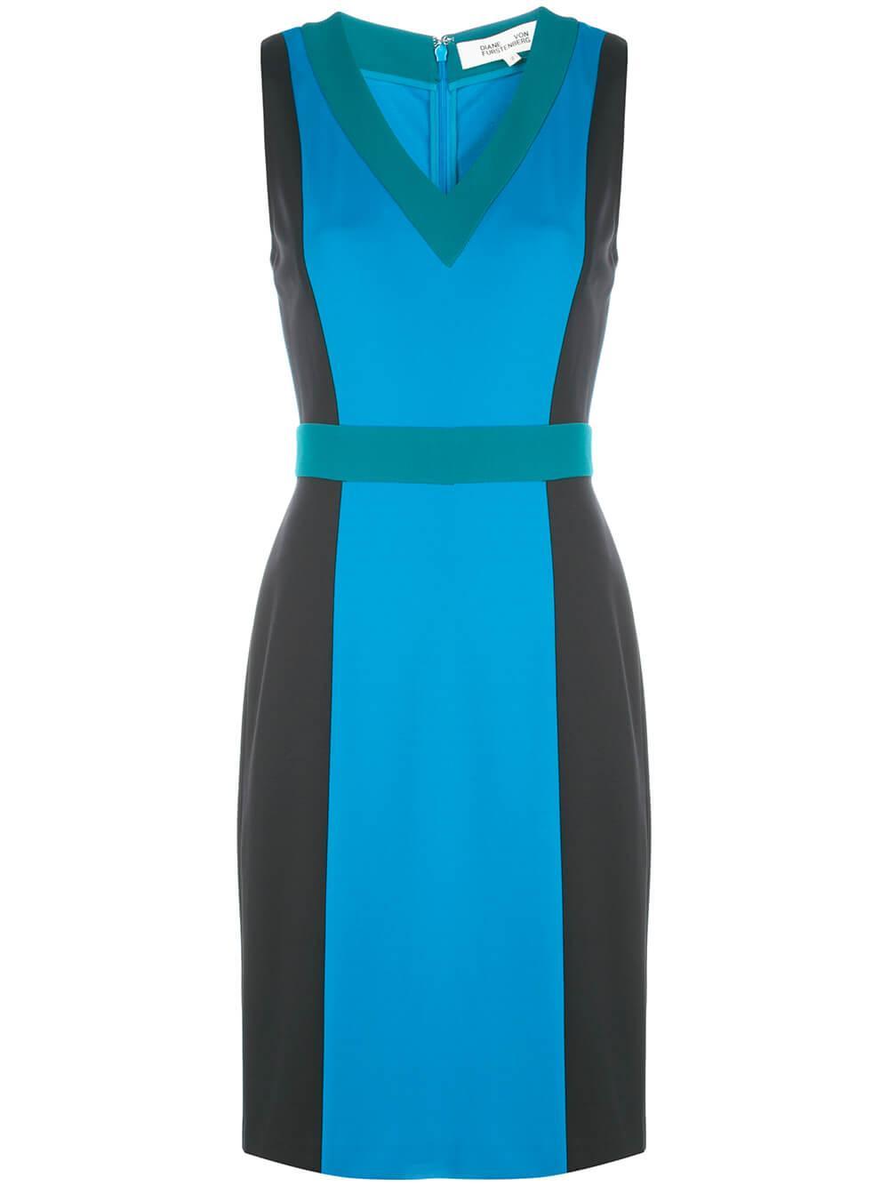 Arbor Sleeveless Colorblock Dress Item # 13723DVF